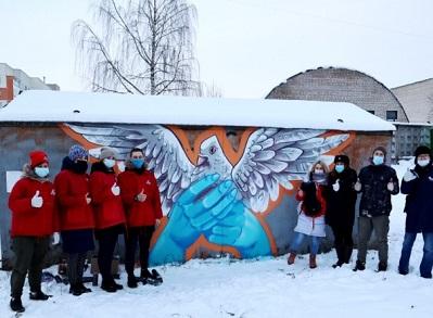 Вместо рекламы наркотиков в Пскове нарисовали голубя